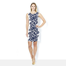 164656 - Ronni Nicole Flower Print Sleeveless Shift Dress