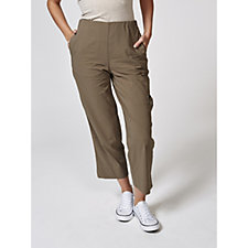 MarlaWynne Straight Leg Crop Trousers with Grommet Detail