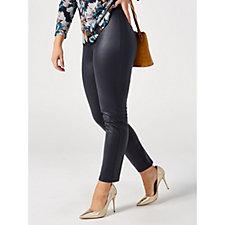 Kim & Co Croco Pleather Slim Leg Trousers Petite Length