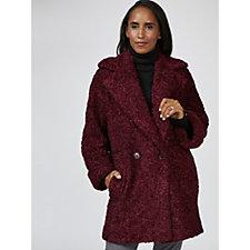Helene Berman Curly Fur Two Button Coat
