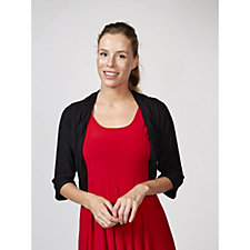 Antthony Designs Crochet Back Shrug with Dolman Sleeves