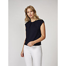 Betty & Co Cream Relaxed Fit Jersey Top
