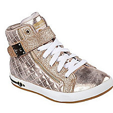 Skechers Kids Shoutouts Quilted Crush High Top Trainer