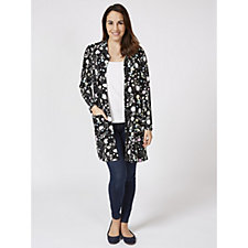 Confetti Print Cardigan with Collar by Michele Hope