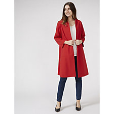 Helene Berman Edge To Edge Crepe Coat