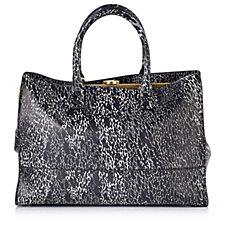 Lulu Guinness Daphne Medium Snake Doodle Smooth Leather Handbag
