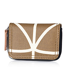 161057 - Orla Kiely Giant Linear Stem Medium Zip Wallet
