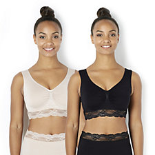 Vercella Vita Medium Control Lace Trim Comfort Bras Pack of 2