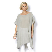 Join Clothes Front Pocket Detail Tunic with Sharkbite Hem