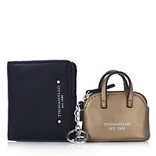 Tignanello Bi Fold Wallet with Dome Satchel Key Fob Boxed Gift Set