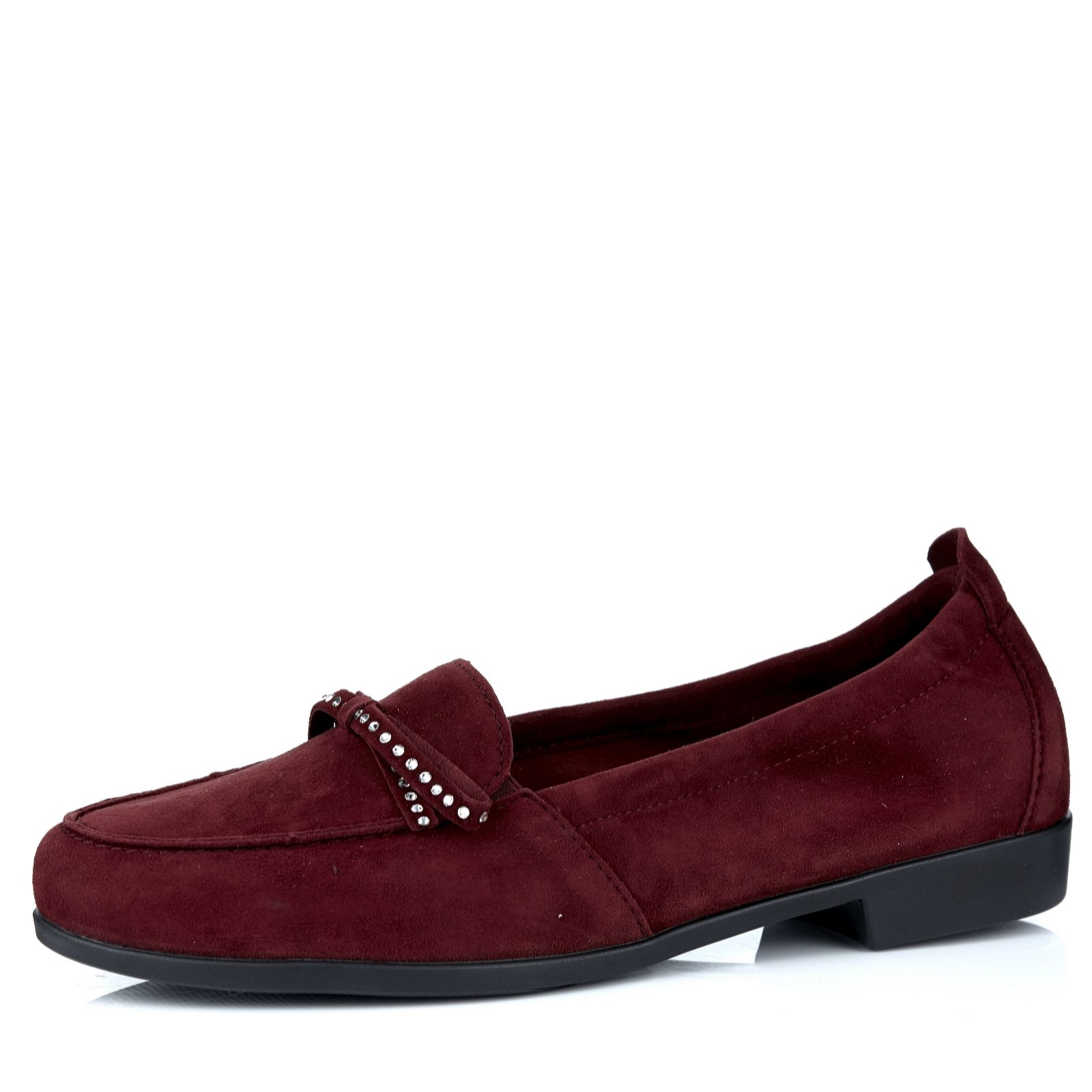 Vitaform Velvet Goat Loafer with Swarovski Crystal Trim Size 8 Uk