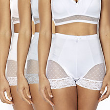 Rhonda Shear Mesh Detail Briefs 3 Pack