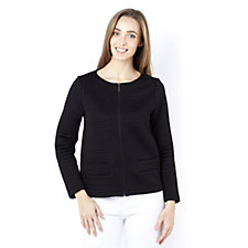 Betty & Co Knitted Long Sleeve Ribbed Jacket