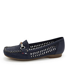 Rieker Loafer with Buckle Detail
