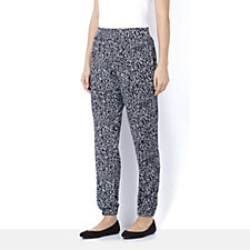 Nick Verreos Dot Print Elasticated Waist Relax Fit Trouser