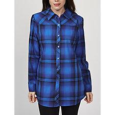Denim & Co. Long Sleeve Button Front Shirt