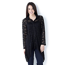 Rosa Lace Detail Long Sleeve Shirt by Michele Hope