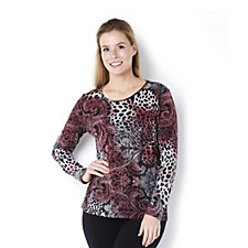 Mr Max Long Sleeve Print Top