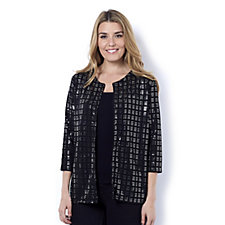 Sequin Shimmer Jersey Crop Jacket by Michele Hope