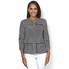 C. Wonder 3/4 Sleeve Striped Knit Jacket