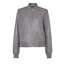 Label Lab Alder Leather Bomber Jacket