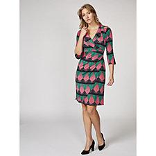 Kelly 3/4 Sleeve Printed Dress by Onjenu London
