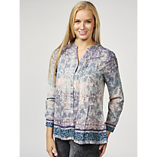 Together Button Through Border Print Shirt