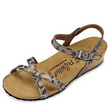 Papillio Alyssa Suede Crossover Strap Wedge Sandal by Birkenstock