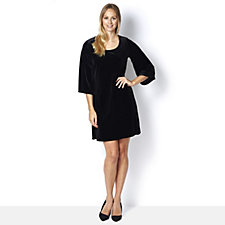 Ronni Nicole Stretch Velvet Swing Dress