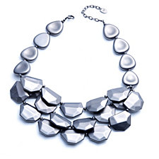 MarlaWynne Metallic Bib Style Necklace