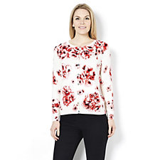 Fashion by Together Rose Garden Print Cardigan