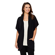 158259 - AnyBody Loungewear Drape Pocket Jacket