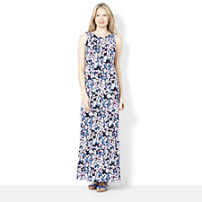 159659 - Kim & Co Printed Brazil Knit Longer Length Maxi Dress