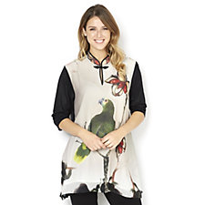 Butler & Wilson Parrot Flower Chinese Style Top
