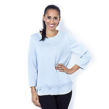 162159 - Fashion by Together Woven Jumper with Crochet Trim