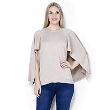 H by Halston Knitted Cape Poncho
