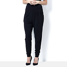 Tapered Leg Relaxed Trousers by Michele Hope