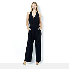 164659 - Ronni Nicole Halter Neck Belted Jumpsuit
