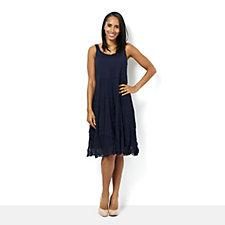 165159 - Yong Kim Mesh Jersey & Mesh Mix Sleeveless Dress