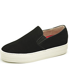 Skechers Uplift High Suedeciety Suede Flatform Twin Gore Slip On Shoe