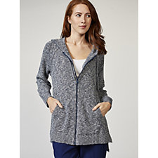 Isaac Mizrahi Live True Denim Hooded Sweater Tunic