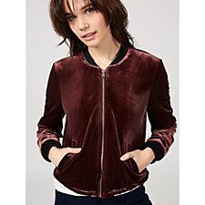 Centigrade Velvet Bomber Jacket