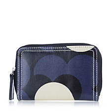Orla Kiely Shiny Laminated Shadow Flower Medium Zip Wallet