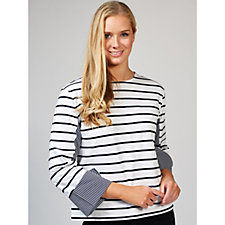 Attitudes by Renee Long Sleeve Striped Top