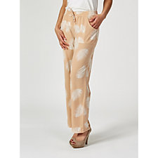 Antthony Designs Feather Print Straight Leg Cargo Trousers
