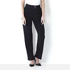 Soft Jersey Trouser with Metal Button Detail by Michele Hope