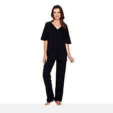 158260 - AnyBody Loungewear V-Neck Top & Trouser Set