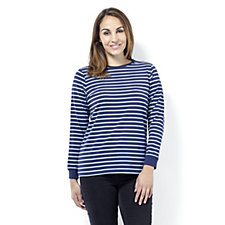Denim & Co. Perfect Jersey Stripe Top