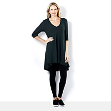 Join Clothes Rib Jersey V Neck Tunic