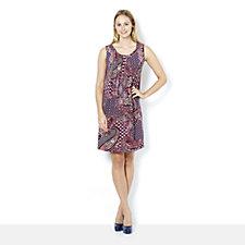Ronni Nicole Round Neck Sleeveless Printed Swing Dress